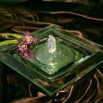 """Zimmerbrunnen """"Sobeh"""", 29x29 cm, Klarglas mit Spiegel"""