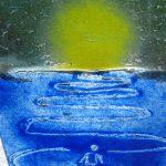 """Detailansicht Glasornament """"Weg ins Licht"""""""