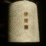 """Wandleuchte """"Hera"""" 22x25 cm, gebogenes und strukturiertes Glas, Gold"""