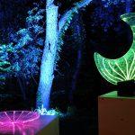 Lichtobjekte Glas & Lichtleitfaser, eingeschmolzene Lichtleitfaser, LED Beleuchtung