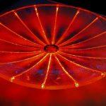 """""""Lichtschale"""", Durchm. 60 cm, Lichtleitfaser & LED Beleuchtung"""