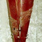 Stehleuchte gebogenes und strukturiertes Glas, Edelstahl